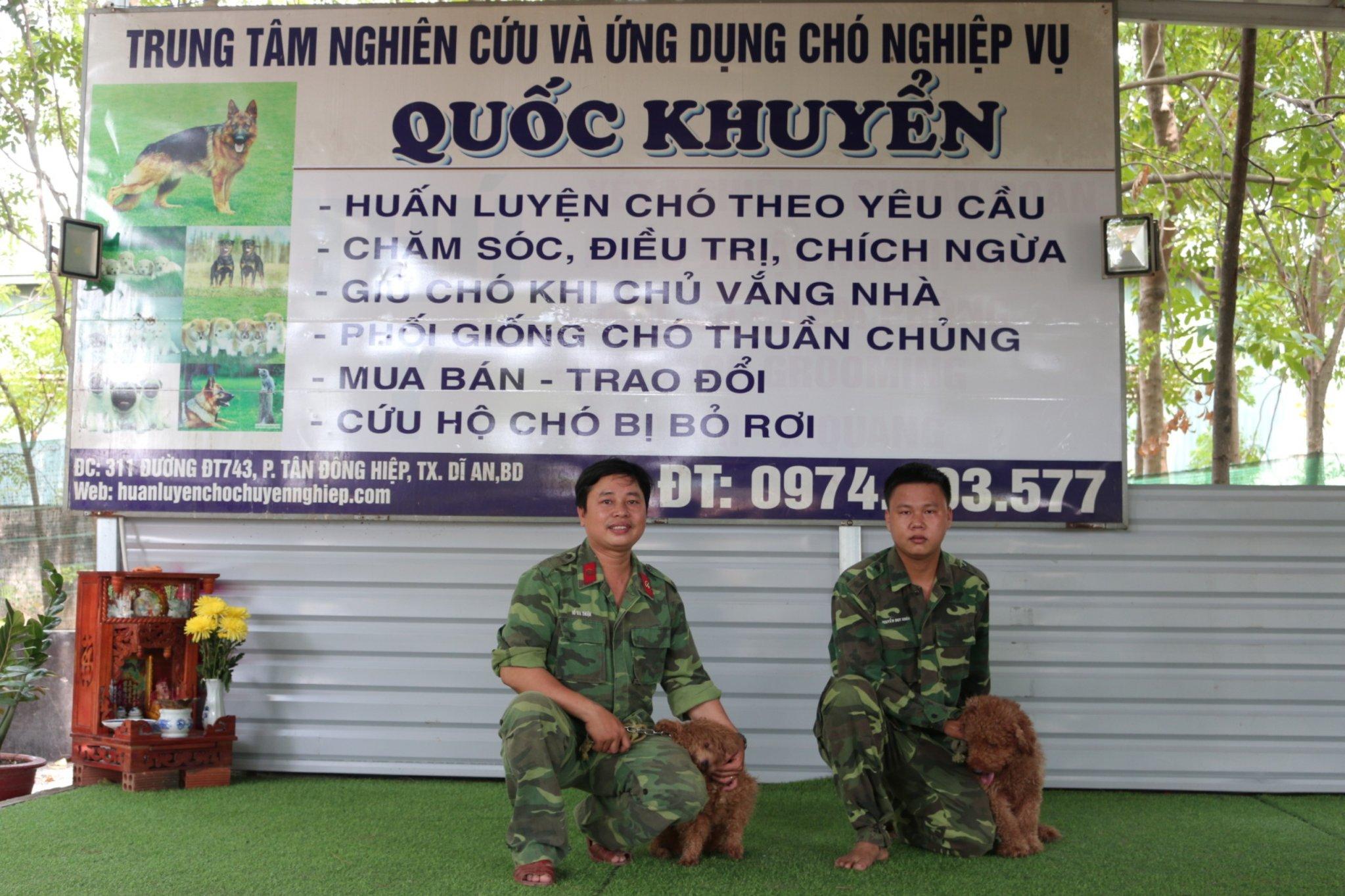 giá huấn luyện chó